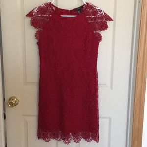 Forever21 red lace dress
